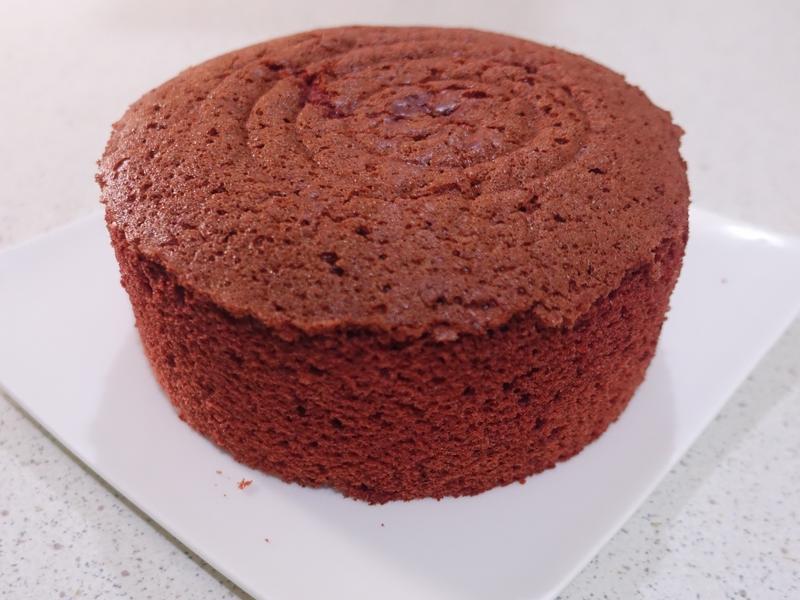 紅絲絨海綿蛋糕 (6吋烤盤)