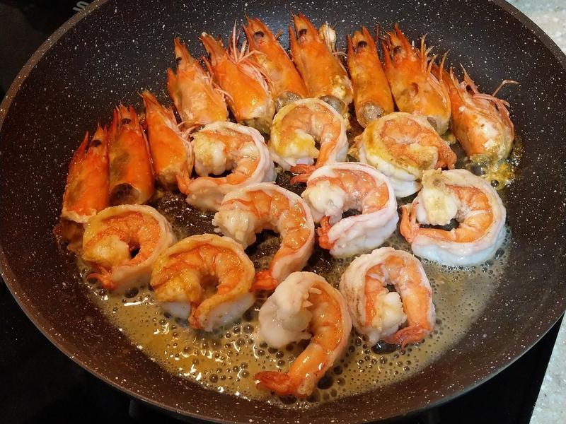 減肥低脂-橄欖油香煎蝦子