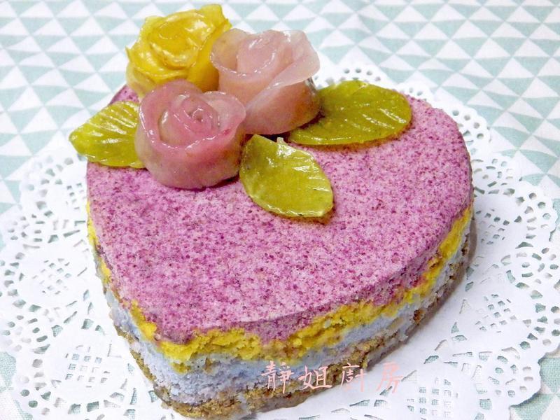 五彩米蛋糕