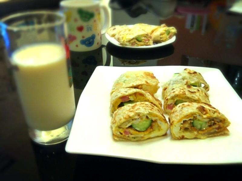 快速早餐~瓜瓜菇菇蛋餅