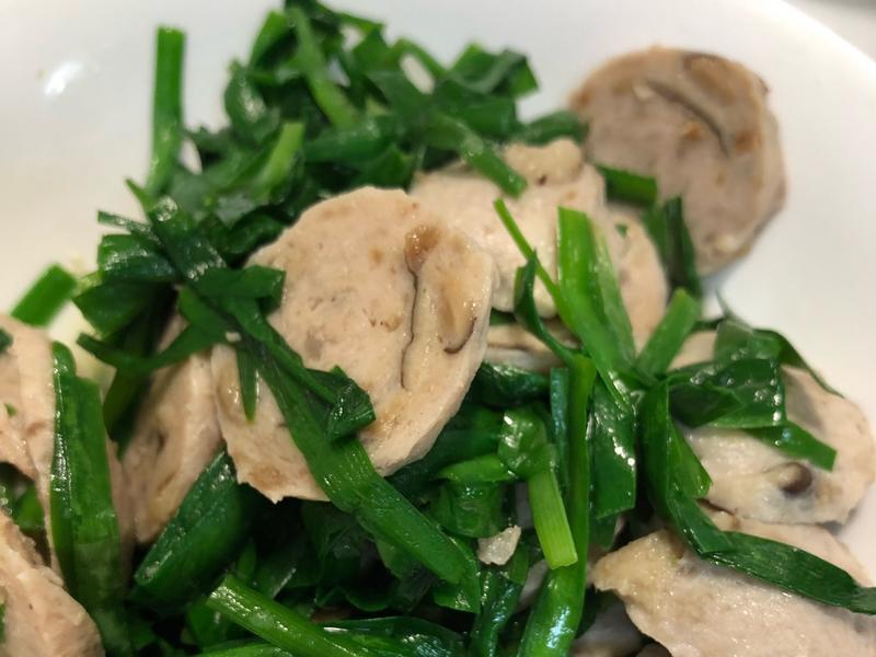 韭菜炒香菇丸