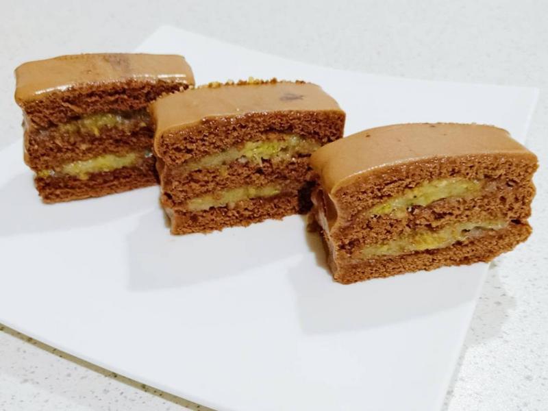 香蕉巧克力核桃蛋糕