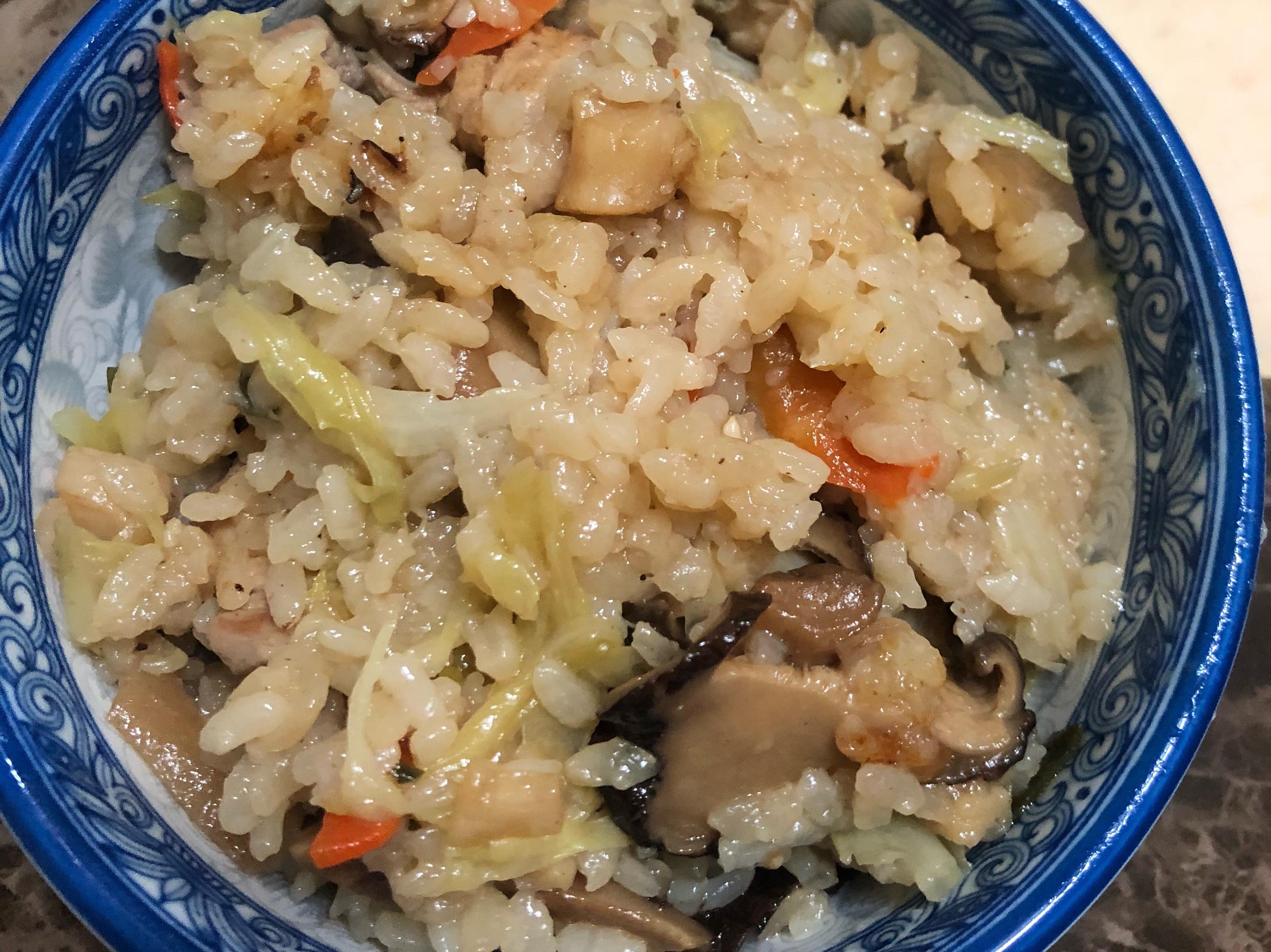高麗菜燉飯 (家鄉味鹹飯)(電鍋版)