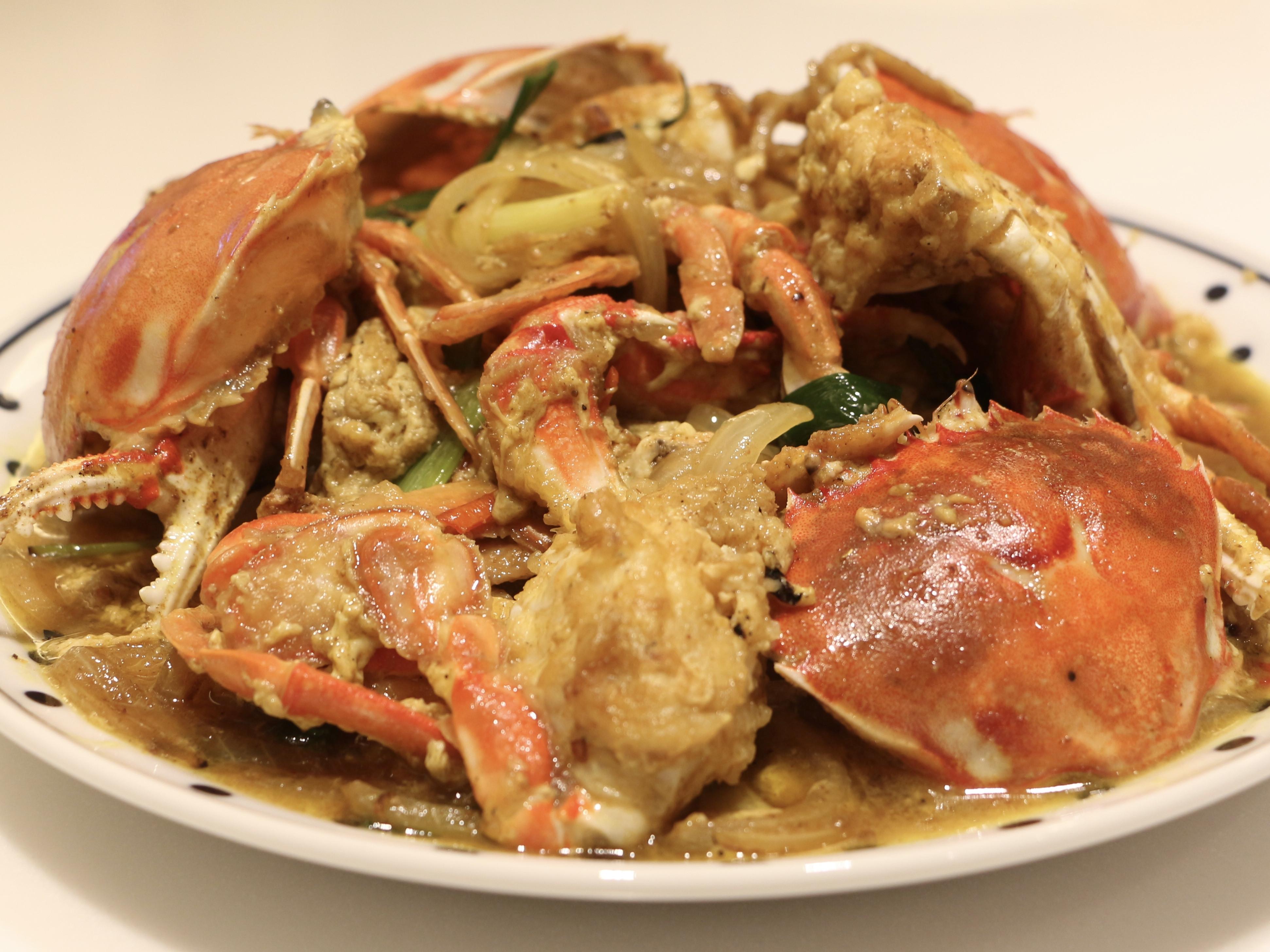 咖哩滑蛋炒蟹