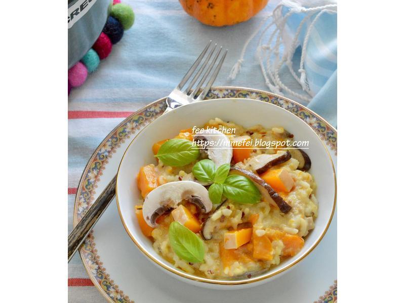 南瓜、香菇藜麥燉飯