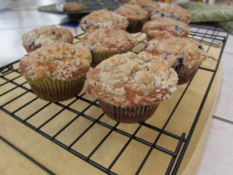 藍莓楓糖鬆餅杯子蛋糕
