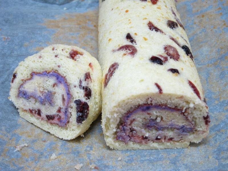 地瓜蔓越莓蛋糕捲