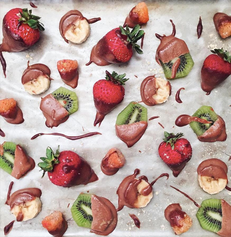 巧克力冰佐蜜水果