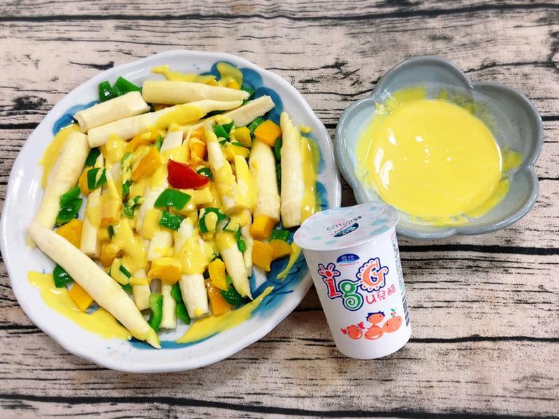 筊白筍佐優酪乳拌芥末醬(水波爐料理)
