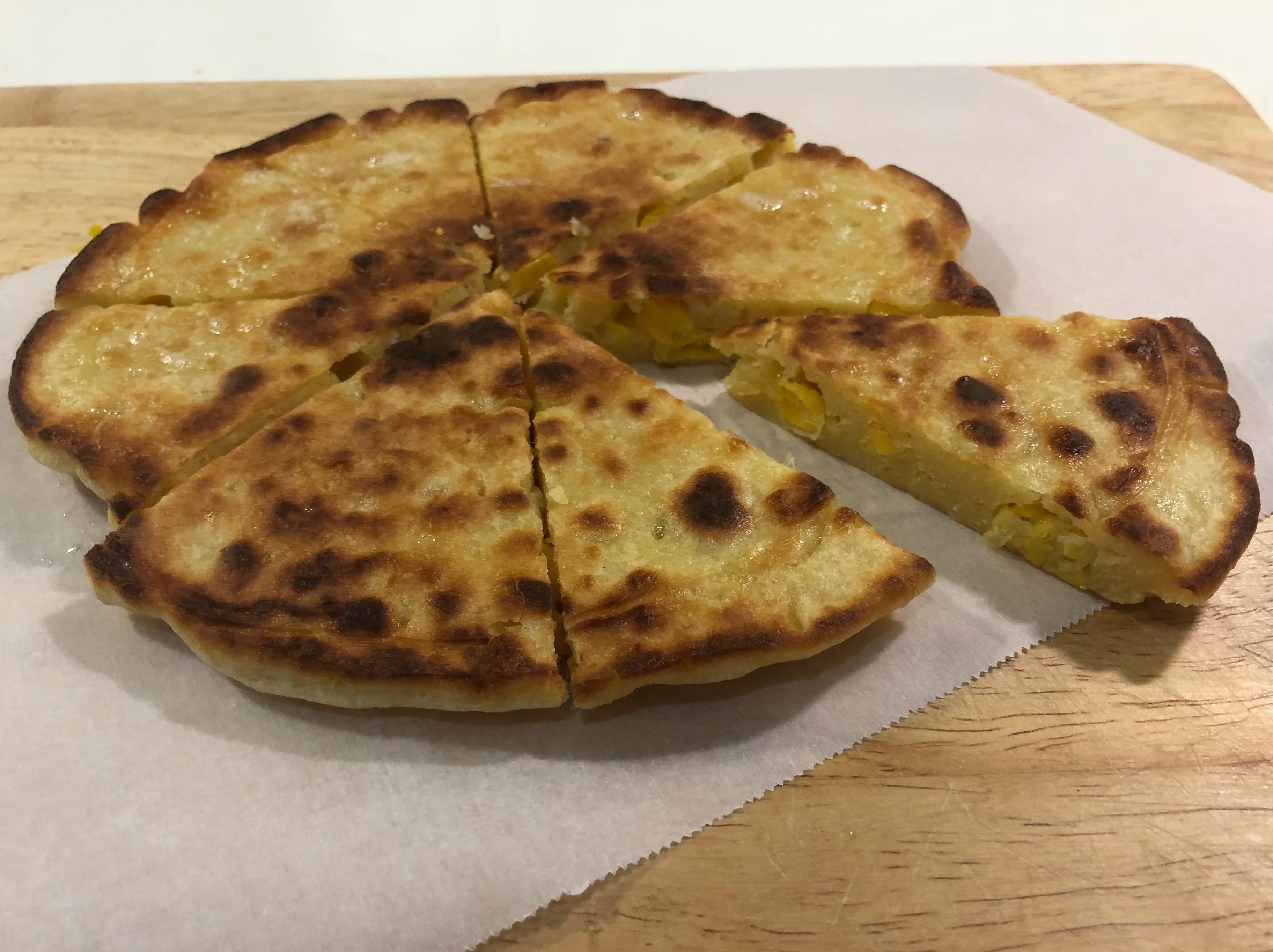 超級無敵簡單的,玉米煎餅