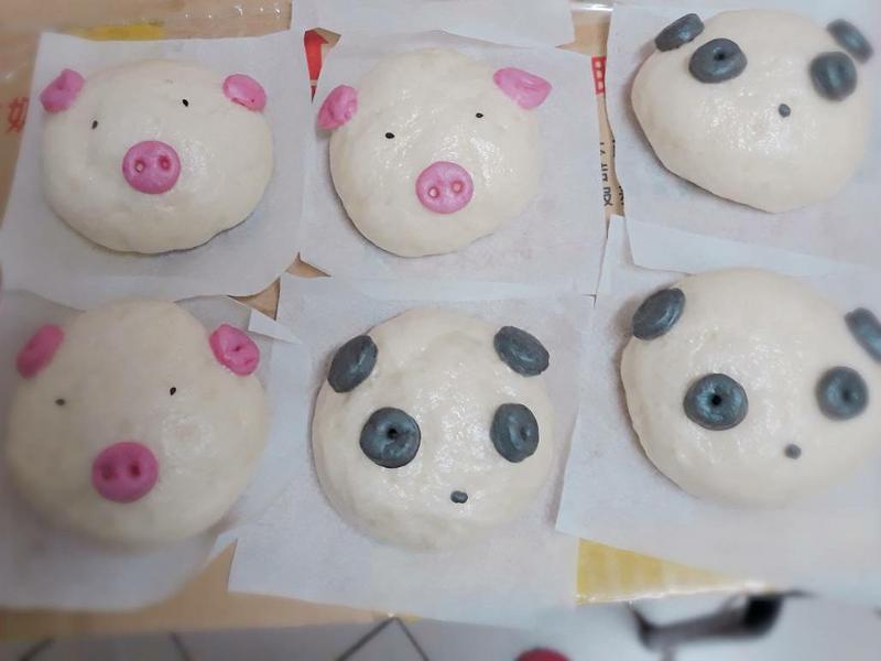 小豬熊貓饅頭