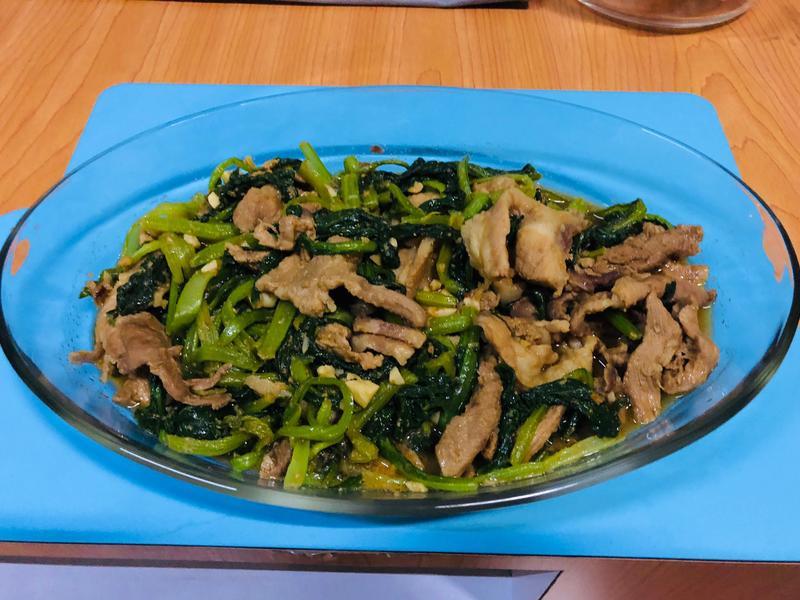 燦坤新岡山店 萬用鍋 油菜沙茶豬肉