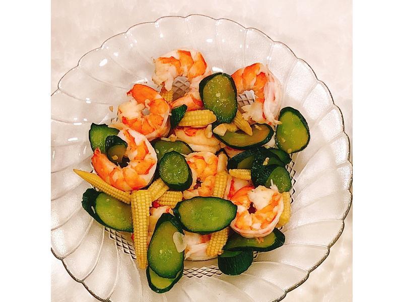 小黃瓜🥒蝦子玉米筍