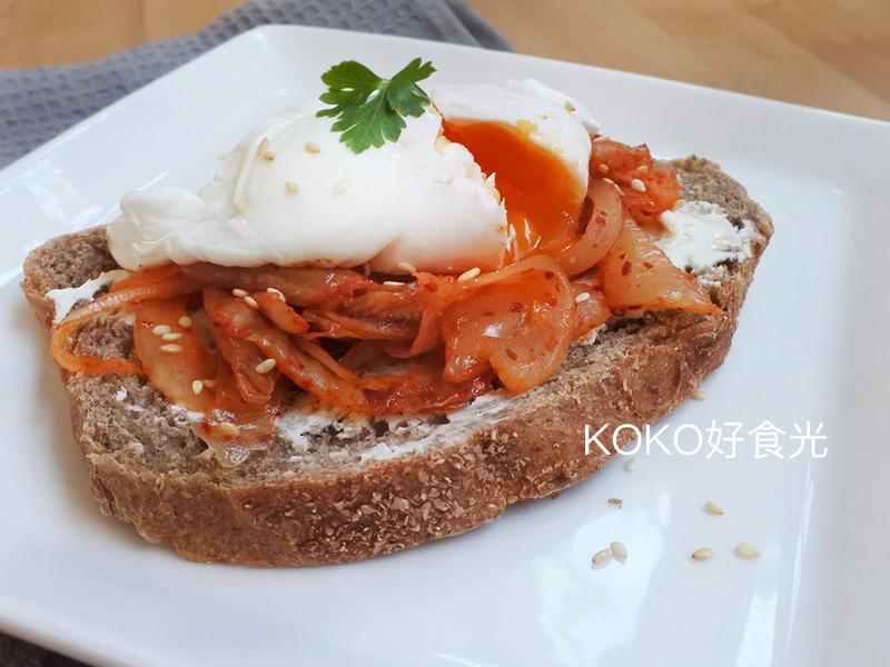 韓式泡菜起司蛋吐司早餐