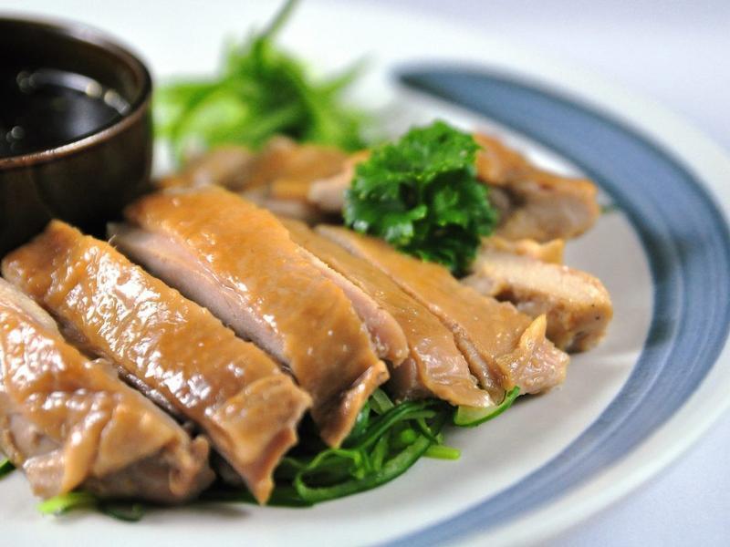 超簡易料理:蔥薑蒸雞