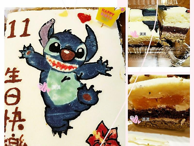花漾芋泥布丁三色蛋糕(生日蛋糕&減糖)