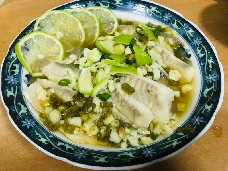 萬用鍋  清蒸檸檬魚