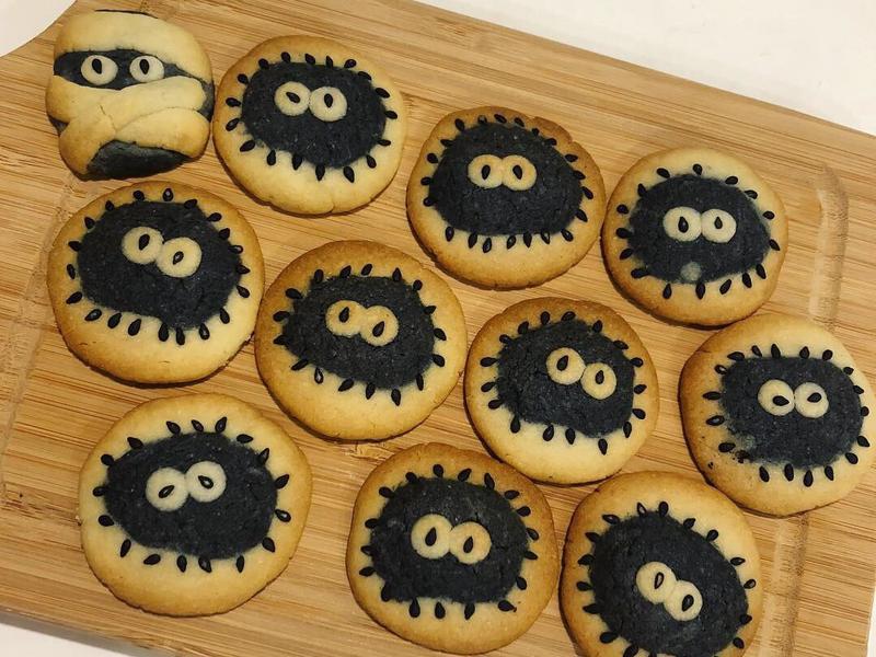 可愛造型黑炭餅乾🍪