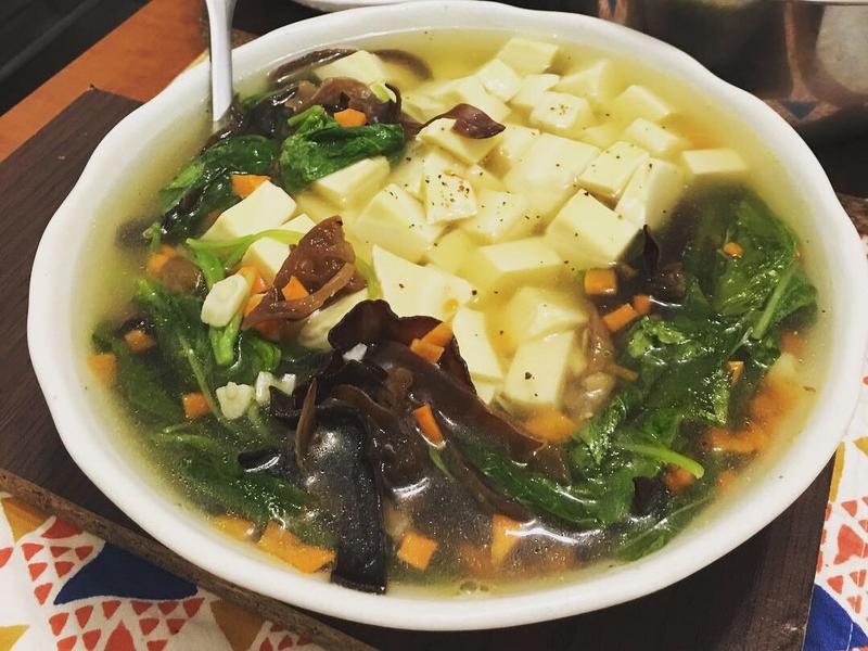 莧菜湯豆腐