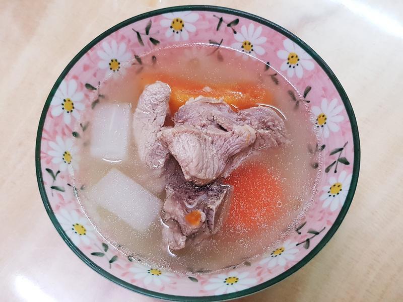 熟木瓜排骨湯