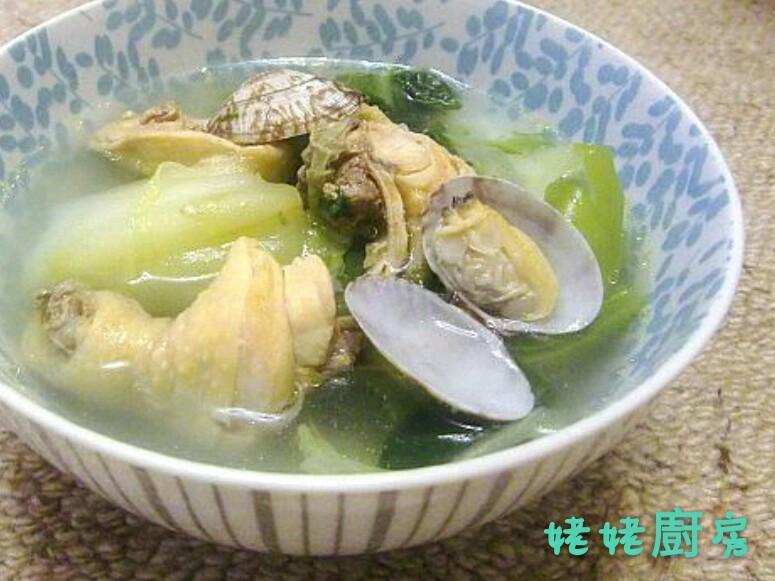 芥菜蛤蜊雞湯