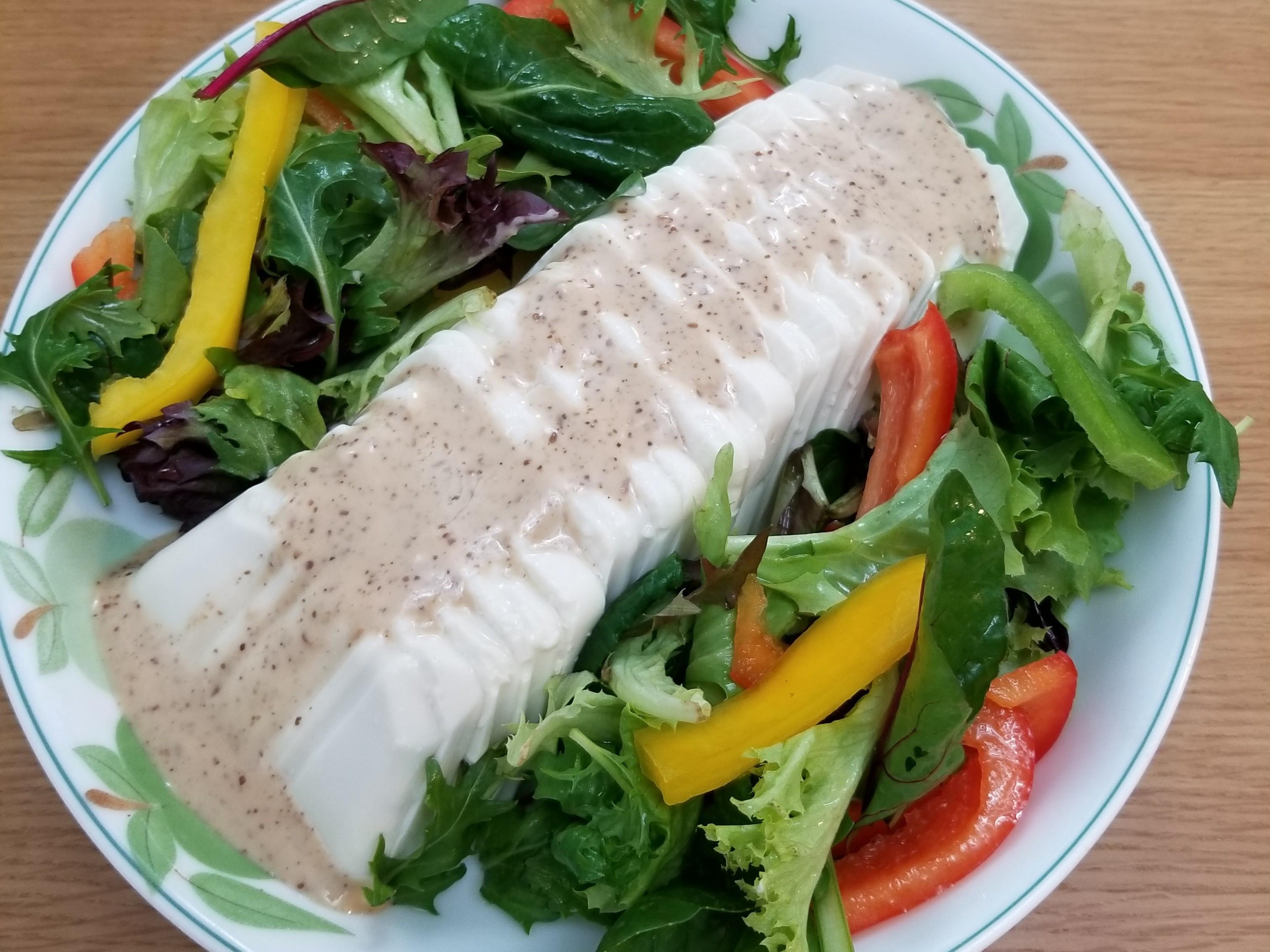 超簡單-麻醬滑豆腐沙拉