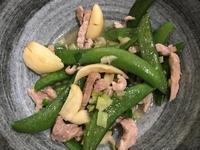 豌豆莢炒肉絲