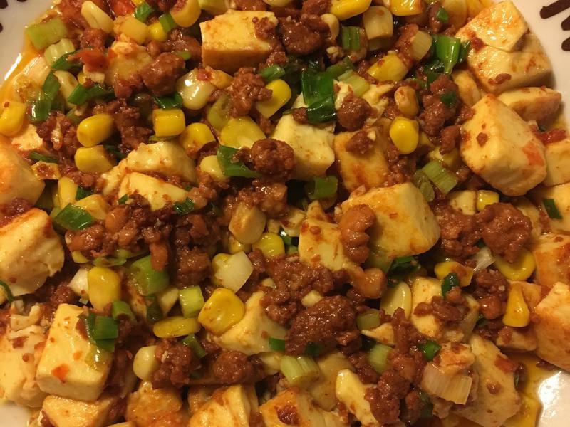 簡易辣味肉燥豆腐