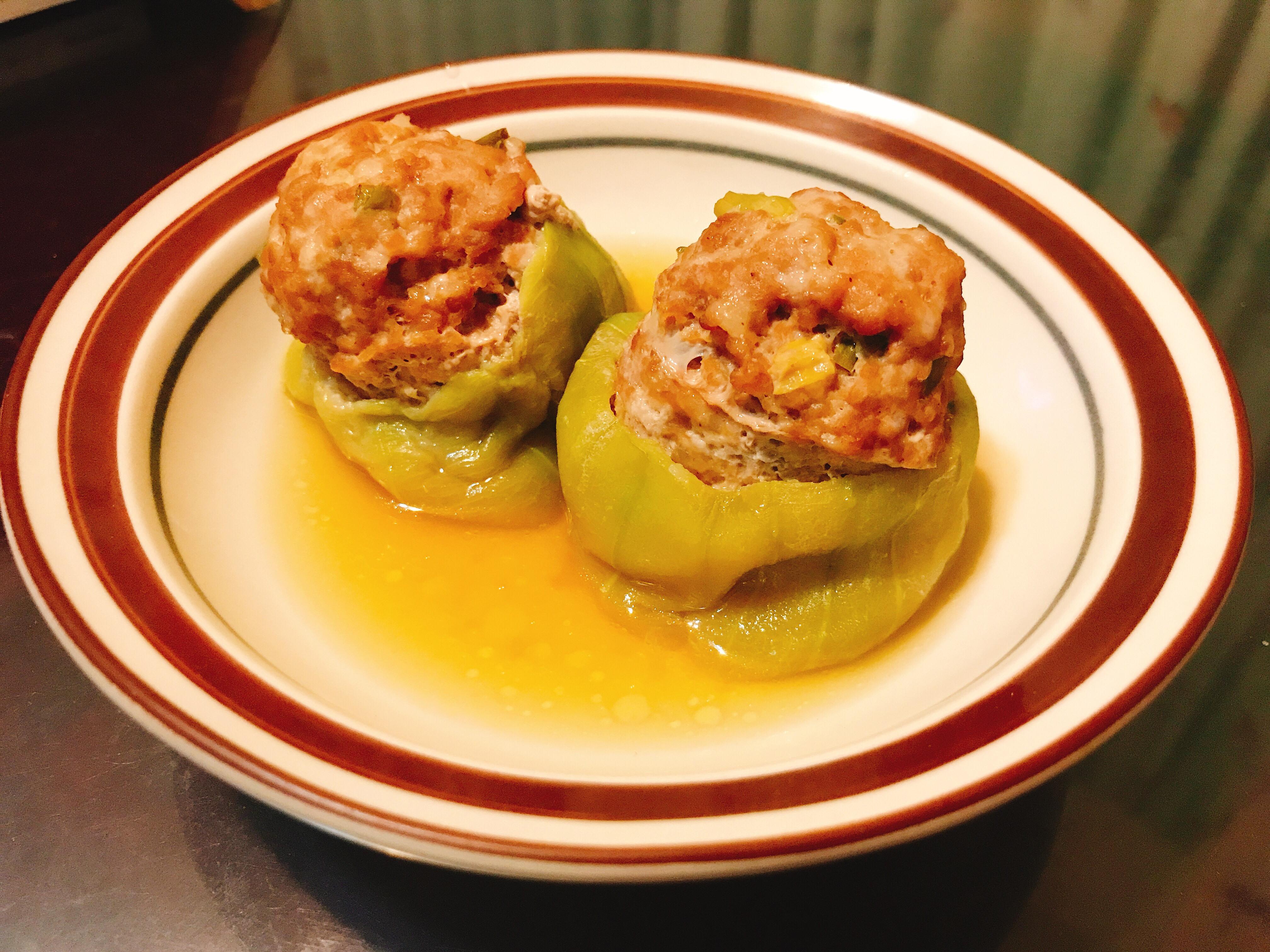 絲瓜鑲肉盅(電鍋料理)