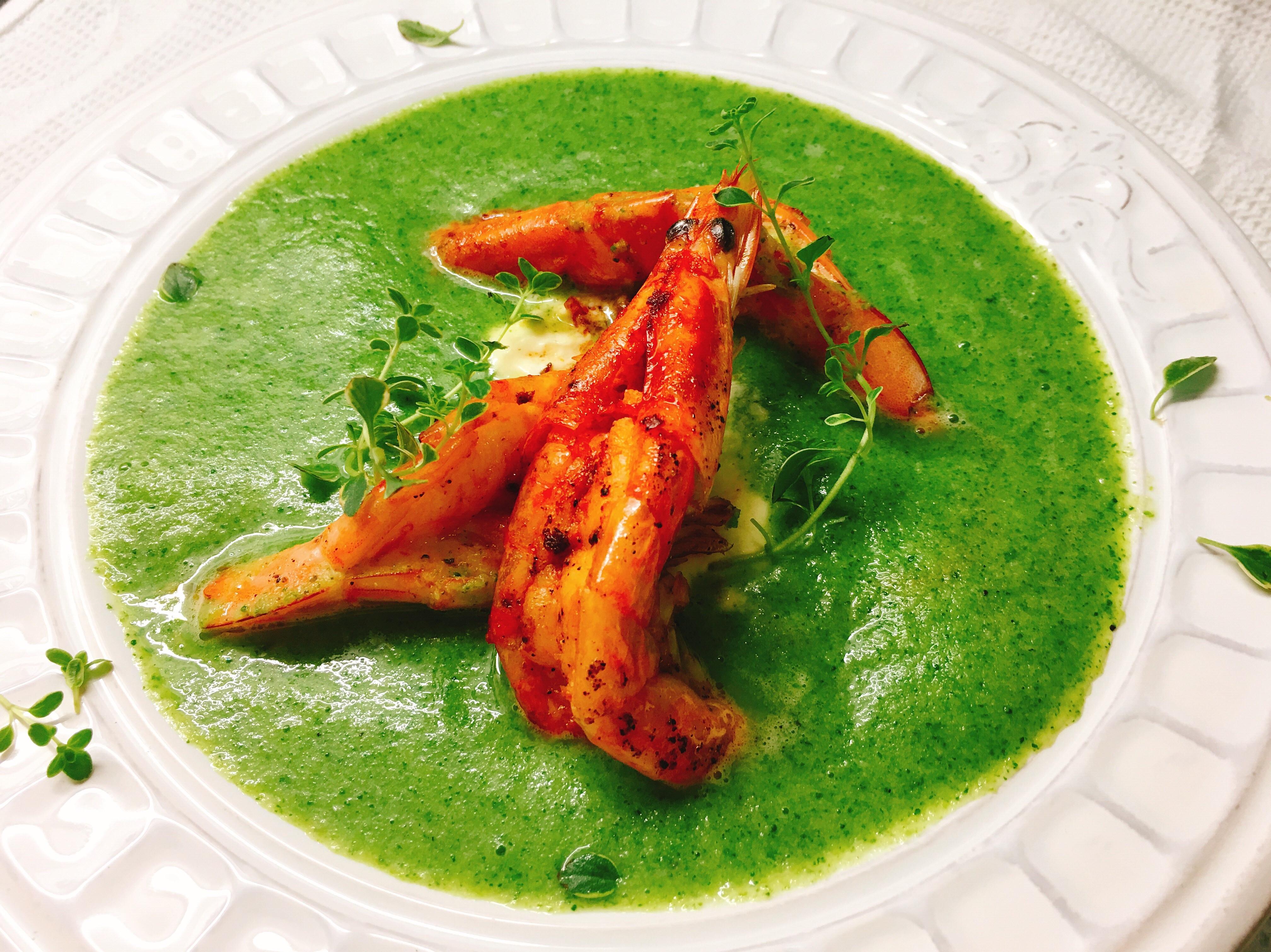 鮮蝦酸奶綠花椰菜濃湯🦐🥦