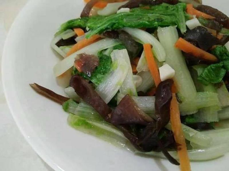 蒜香木須小白菜【豆豆愛的料理】【福壽】