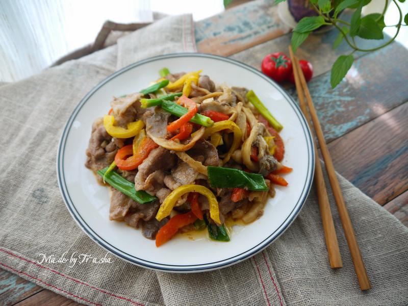 沙茶豬肉炒菇
