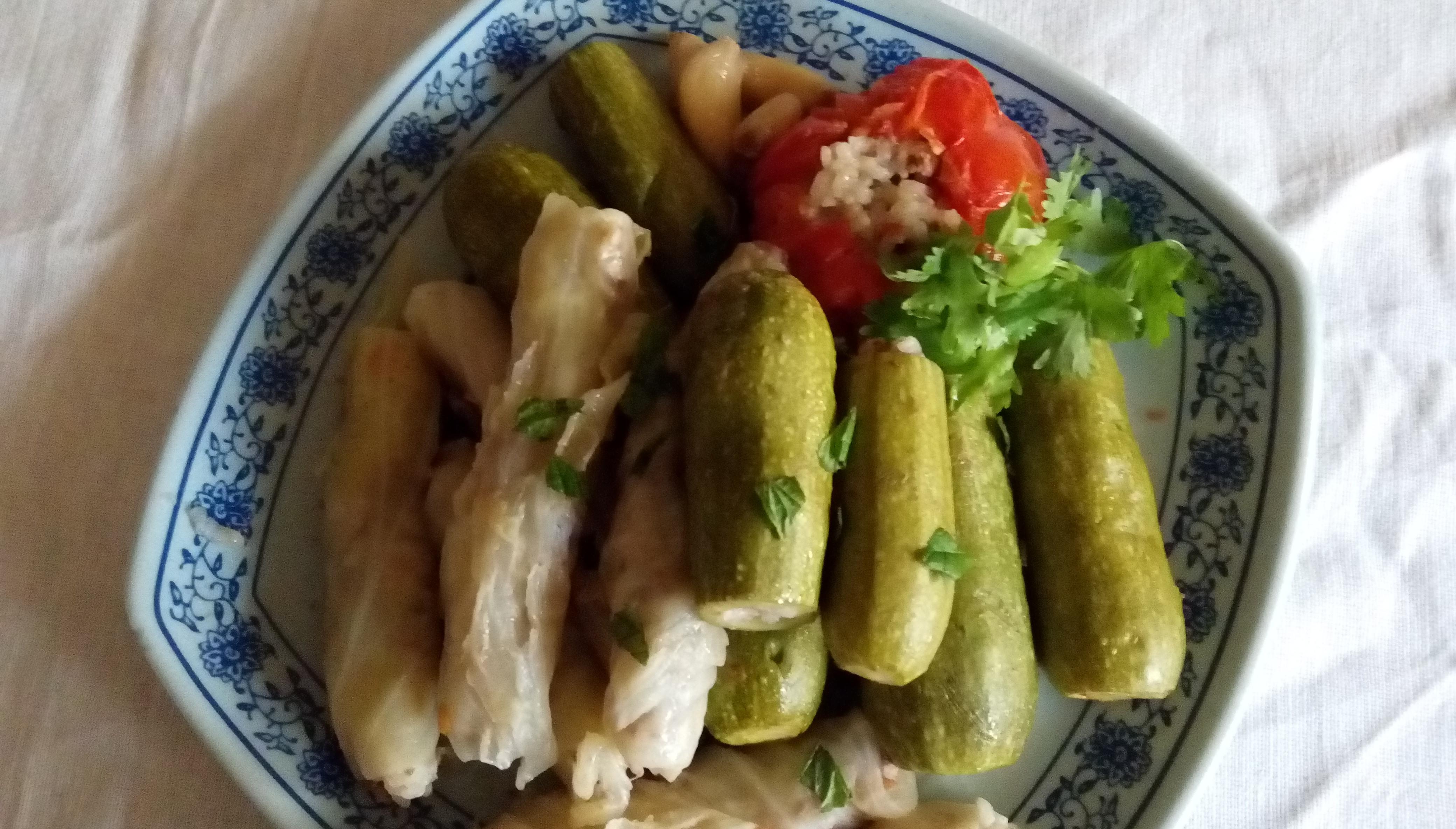 高麗菜捲及櫛瓜填飯-中東家常菜