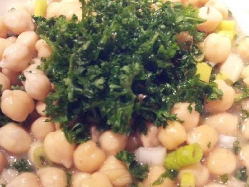 地中海料理: 鷹嘴豆沙拉