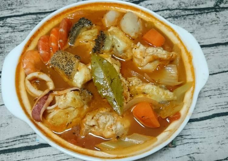 法式馬賽石斑魚湯
