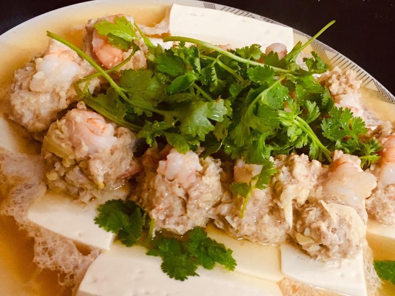 清蒸蝦仁鑲豆腐🦐🦐🦐