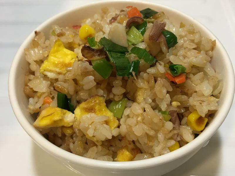 小卷玉米蛋炒飯