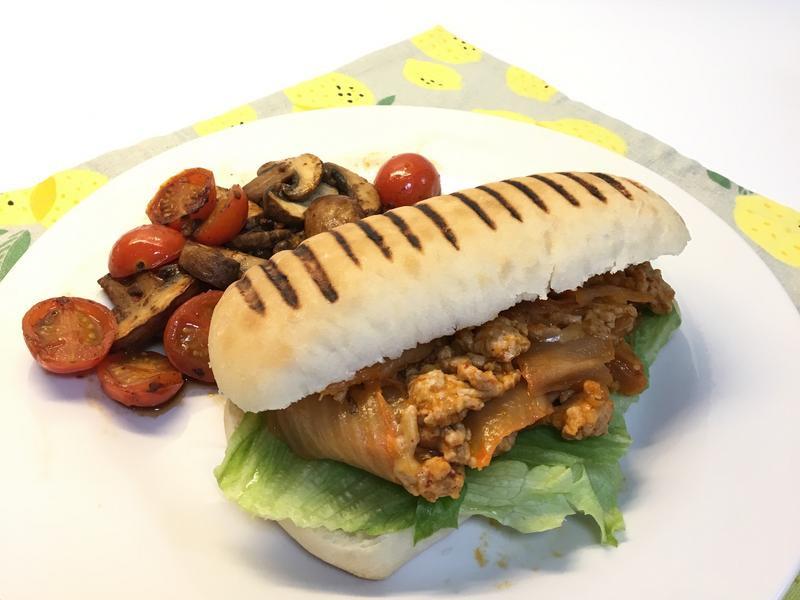 泡菜起司豬肉堡(15分鐘早午餐)