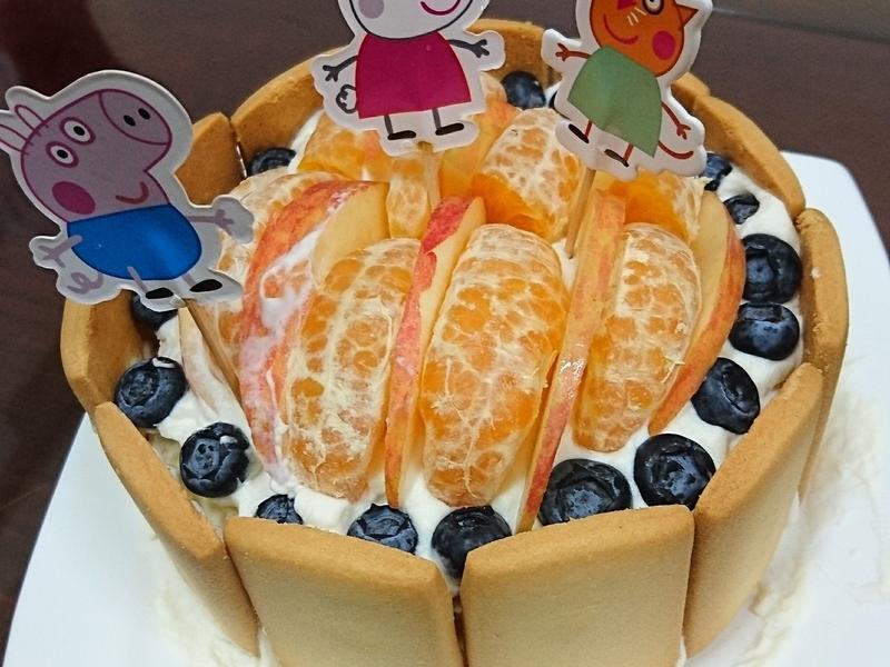 免烤水果蛋糕