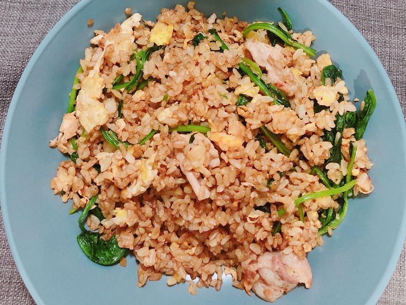 營養豬肉菠菜炒飯
