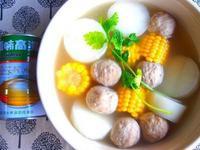 蘿蔔玉米貢丸湯