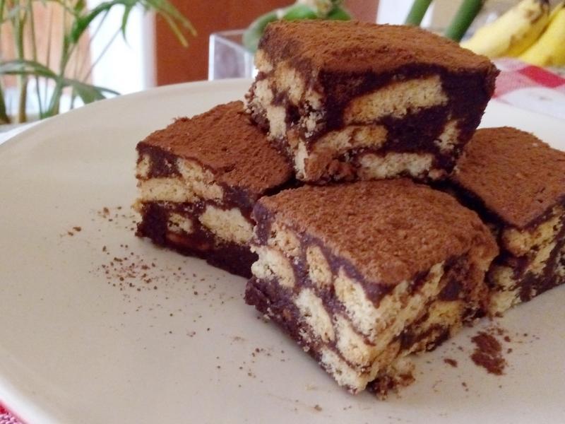 免烤巧克力脆餅蛋糕/懶人蛋糕