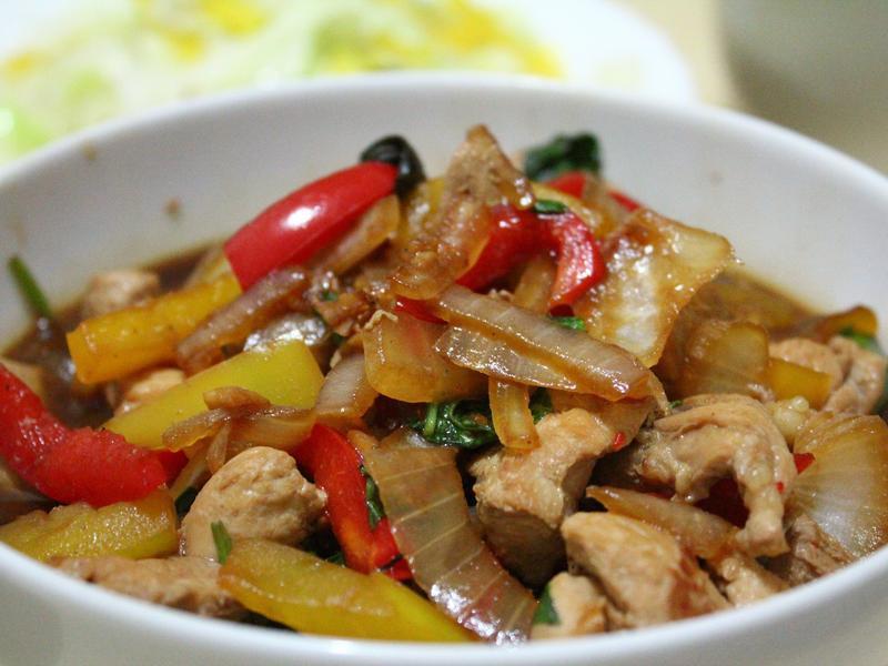彩椒醬燒雞胸肉