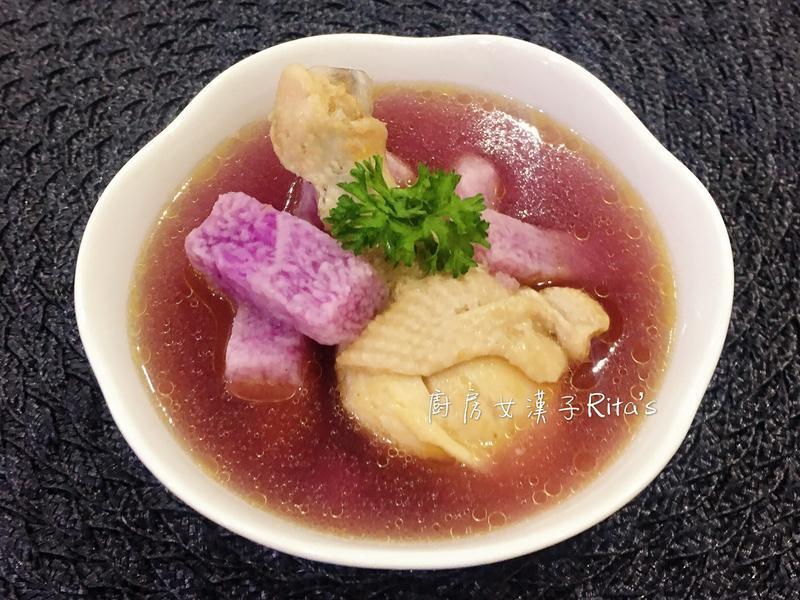 紫山藥洋蔥雞湯