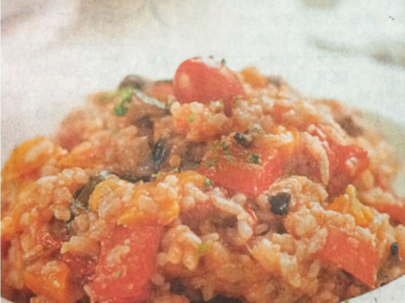 《備份,蘋果日報》茄汁蔬菜燉飯