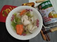 大白菜菇菇魚卵丸子湯【牛頭牌原味高湯】