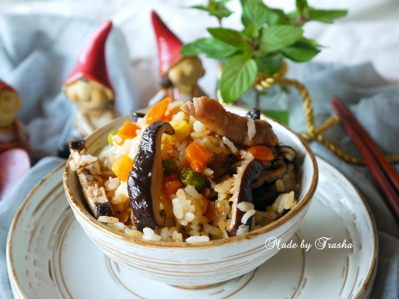 香菇肉絲炊飯