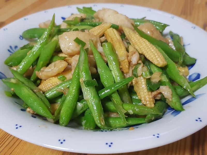 鮮蔬炒沙巴魚