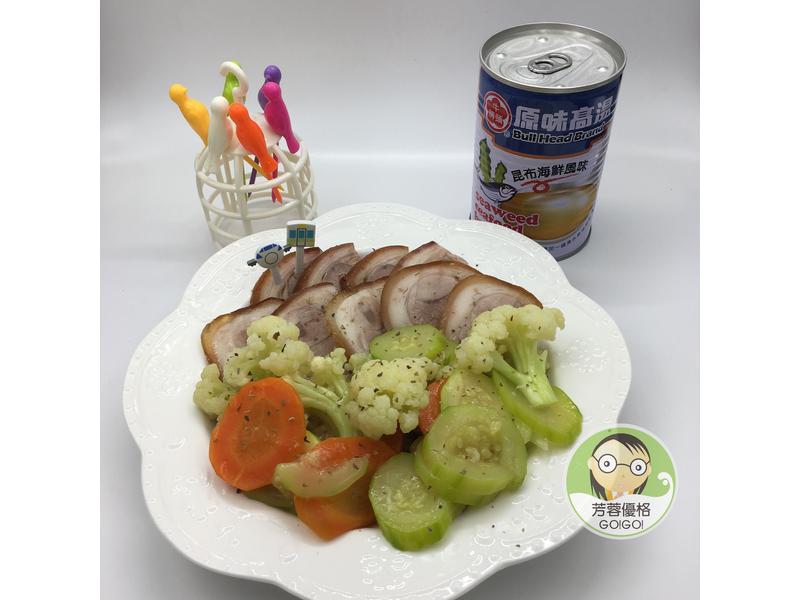香烤豬蹄與高湯鮮蔬羹
