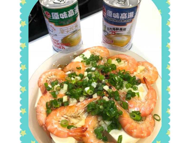 清蒸鮮蝦豆腐粉絲